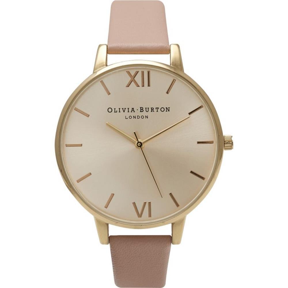 Olivia Burton Reloj Analógico para Mujer de Cuarzo con Correa en Cuero OB14BD31: Amazon.es: Relojes
