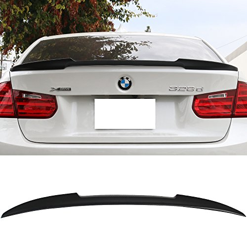 - Trunk Spoiler Fits 2012-2019 BMW 3 Series F80 M3 & F30 4Dr Sedan | V Style Unpainted Rear Spoiler Wing Tail Lid Finisher Deck Lip by IKONMOTORSPORTS | 2013 2014 2015 2016