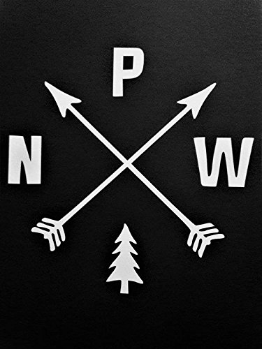Chase Grace Studio Pacific Northwest PNW Hiking Vinyl Decal Sticker|White|Cars Trucks Vans SUV Laptops Wall Art|5.25