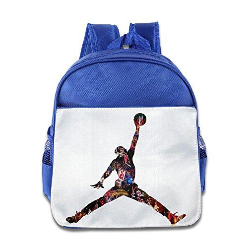 Price comparison product image JXMD Custom Superb Jondan Basketball Kids School Bag For 1-6 Years Old RoyalBlue
