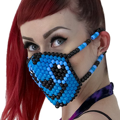 Kandi Gear - Lilo and Stitch Kandi Bead Mask Surgical