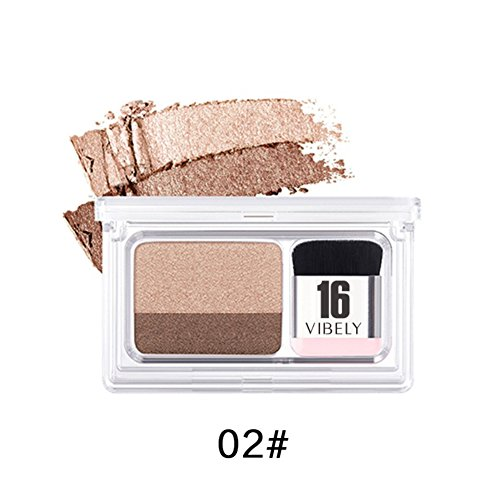 (Sizet 2 Gradient Colors Duo Eyeshdow Palette Makeup 3 Seconds Matte Eyeshadow)