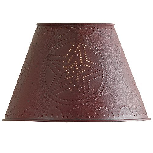 "Red Star Punched Tin 10"" Lamp Shade"