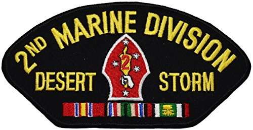 2nd Marine Division Desert Storm Hat Patch (Hat Marine Division)