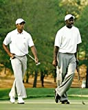 Sports icons Tiger Woods and Michael Jordan playing a round of Photo Picture