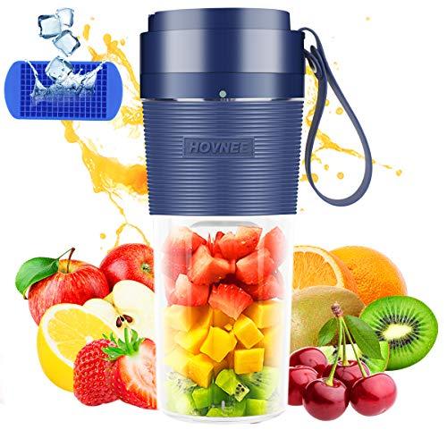 HOVNEE 350ml Portable Blender Cordless Mini Personal Blender Small Smoothie Blender USB Fruit Juicer Mixer