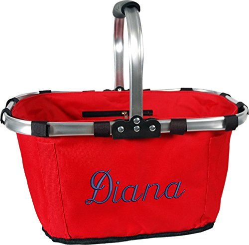 Personalized Monogrammed Embroidered Market Tote - (Personalized Picnic Basket)