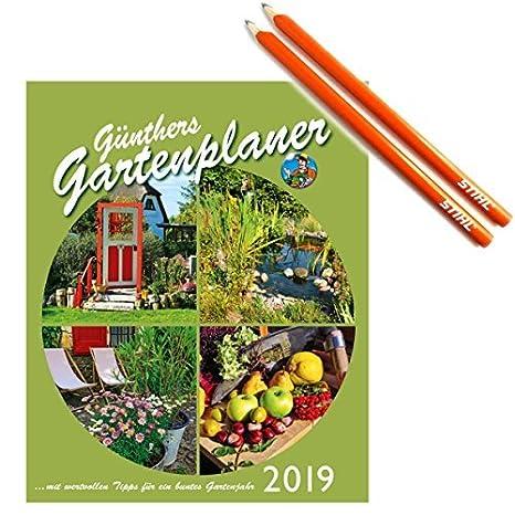 Gartenkalender 2019 +2 Carpenteru0027s Pencils From Stihl: Amazon.co.uk: Office  Products