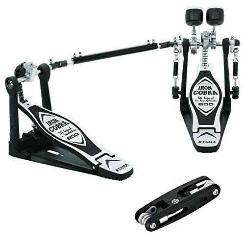Tama HP600DTW Iron Cobra Double Pedal Bundle Includes TMT9 Drum Multi -