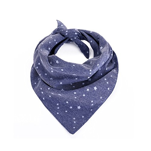 Towers Gift Piece Pack 28 - Stock Show Pet Dog Retro Denim Style Stars and Towers Printing Cute Dog Cat Rversible Triangle Bib Neckerchief Collar Necktie for Small to Medium Dogs Cats Breeds, L