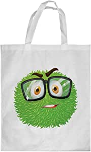 Printed Shopping bag, Medium Size, Cartoons - Colorful monster with glasses