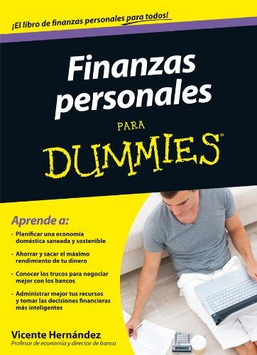 Portada del libro Finanzas personales para dummies de Vicente Hernández