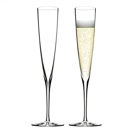 8294eb46c831c Waterford Elegance Champagne Trumpet Flute, Set of 2: Amazon.co.uk ...
