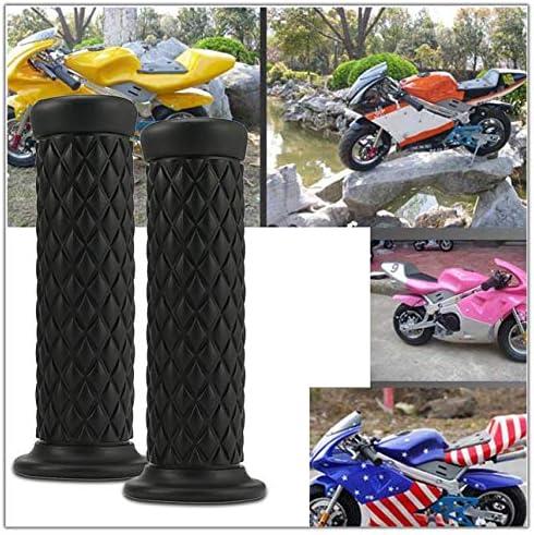 cl/ásico universal para manillar antideslizante dise/ño de botella de coque Pu/ños de manillar de goma para motocicleta vintage