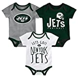 NFL by Outerstuff NFL New York Jets Newborn & Infant Little Tailgater Short Sleeve Bodysuit Set Hunter Green, 12 Months
