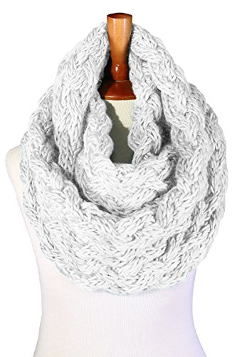 Basico Women Winter Chunky Knitted Infinity Scarf Warm Circle Loop Various Colors (Chunky Mochi (Soft Knit Scarf)
