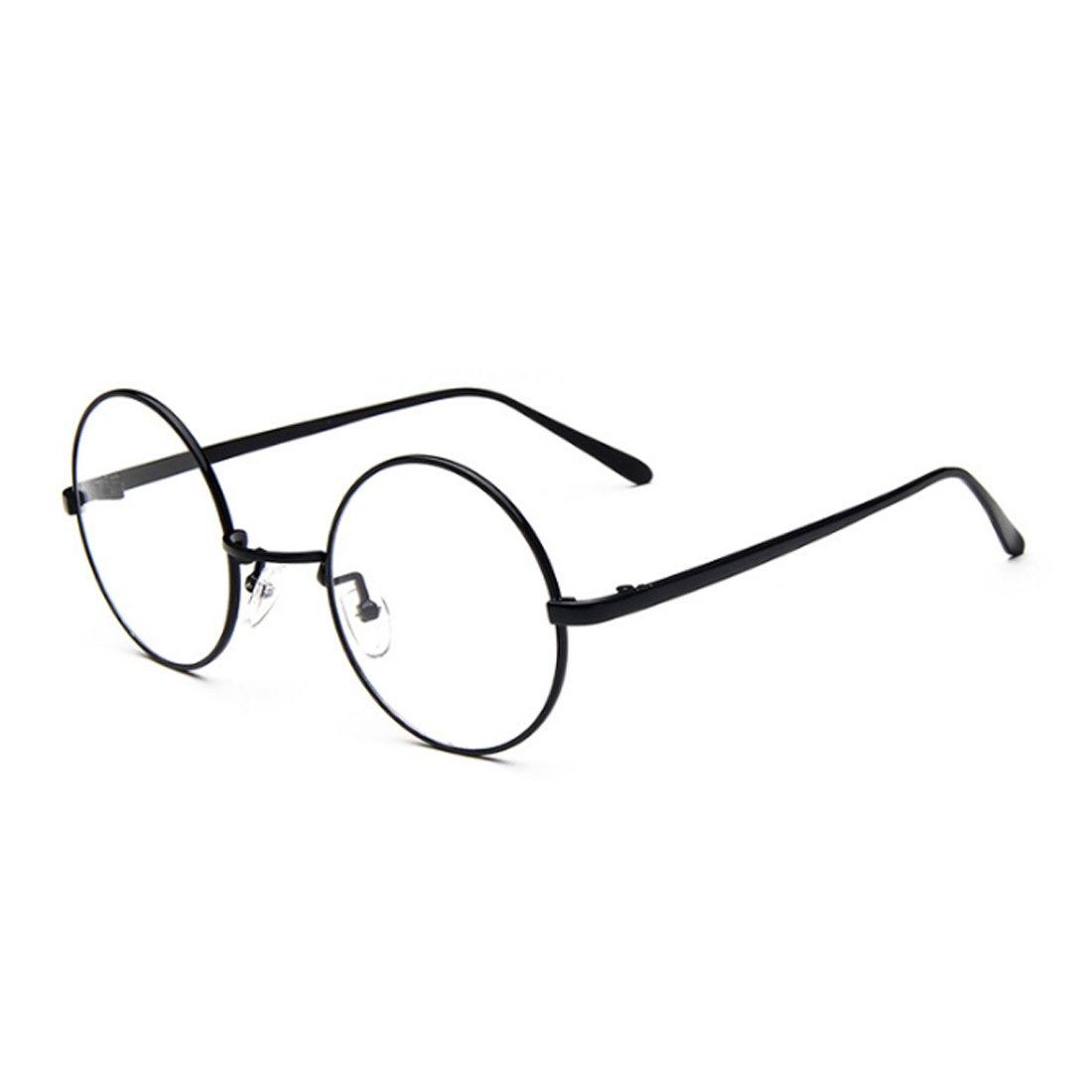 Aiweijia Male Female Circular myopia Glasses frame Fine Frame Retro Glasses