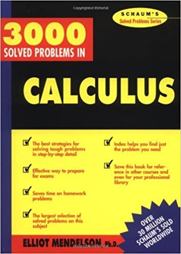 Schaums 3,000 Solved Problems in Calculus