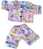 Stuffems Toy Shop Sunny Days Pink PJ's Outfit for 14-Inch-to-18-Inch Teddy Bears