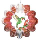 Iron Stop D252-10 Designer Green Hummingbird Wind Spinner, 10-Inch