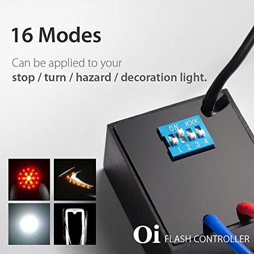 16 in 1 Oi Flash Strobe Controller Flasher Module LED Brake Stop Hazard Light Alert Relay Indicator Turn Signals