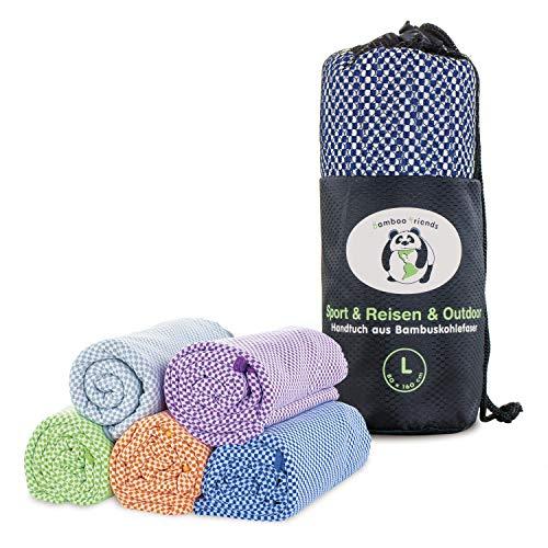Bamboo Friends Bamboe reishanddoek – compact, vederlicht, super absorberend, antibacterieel & sneldrogend – voor sport…