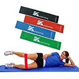 Cheap Resistance Loop Bands with Instructional Booklet,Home Fitness Exercise Bands Resistance Set 4 for Women and Men,Yoga Bands Resistance for Legs Workout Physical Therapy Physio Rehabilitation Pilates