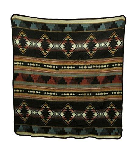 Cabin Fever Grecas Southwestern Queen Size Acrylic Fleece Blanket 80 X 91 (Acrylic Fleece)