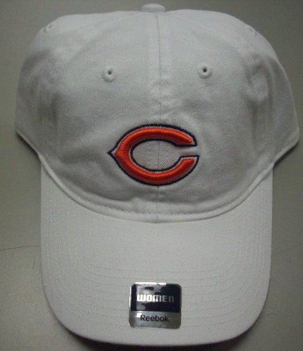 (Reebok Chicago Bears Women's -White- Adjustable Slouch Strapback)