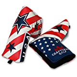 Craftsman Golf USA FLAG STAR White Blue Red Blade Putter Head Cover Headcover For Odyssey Scotty Cameron