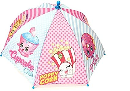 Shopkins Kids Umbrella Girls Parasol Paraguas - blue