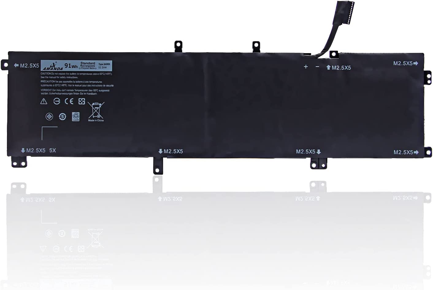 Amanda 245RR Battery 11.1V 91Wh Compatible with Dell XPS 15 9530 Dell Precision M3800 Series Laptop 701WJ 7D1WJ H76MV Y758W