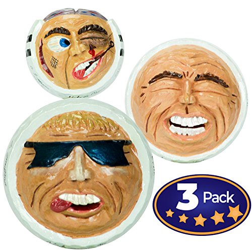 Golf Collectible (Hilarious Golf Expressions Collectible Character Figurines - Sculpted From Actual Golf Balls, Perfect for Fathers Day or Give as Prizes for Company Golf Tournaments and Outings.)