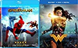 DVD : Marvel vs DC Movies Wonder Woman & Spider-Man: Homecoming 2-Blu-ray Bundle Double Feature
