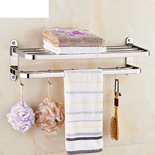 Stainless steel folding towel rack/The bathroom Towel rack/ bathroom ...