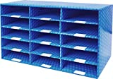 Storex Corrugated Mailroom Sorter, 15 Compartments, 31.5 x 16.3 x 12.8