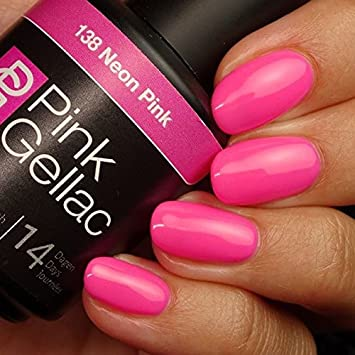 Hedendaags Amazon.com : Pink Gellac #138 Neon Pink Soak-Off UV / LED Gel CL-24