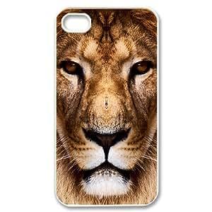 Hard Shell Case Of Lion Customized Bumper Plastic case For Iphone 4/4s wangjiang maoyi