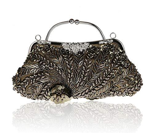 C Purse Clutch soirée Cocktail pailletée Formelle Femmes Mariage Antique 31x19cm des Maille Style E 12x7inch entièrement Perles af4B1x