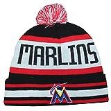 Adult Winter Hat / Beanie with Removable Pom Pom - MIA Marlins