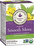 Traditional Medicinals Organic Smooth Move Herbal Tea Peppermint -- 16 Tea Bags - 2 pc