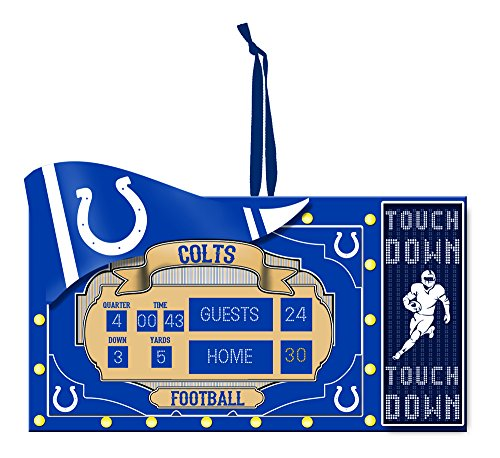 Team Sports America NFL Indianapolis Colts Scoreboard Polystone Ornament, Small, Multicolored