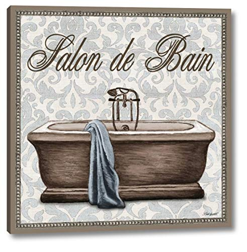 """Salon de Bain Square by Todd Williams - 24"""" x 24"""" Gallery Wrapped Giclee Art Print on Canvas - Ready to Hang"""