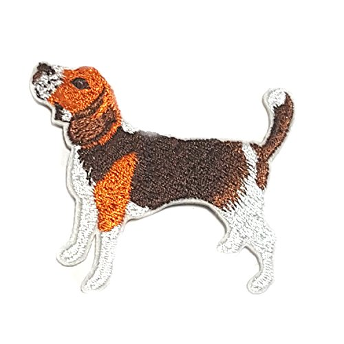 Application Cartoon Classic The Fox and The Hound Beagle Cosplay Badge Embroidered Iron or Sewn-On Applique Patch