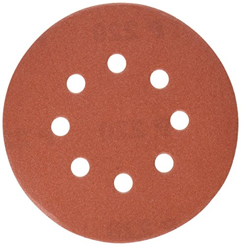PORTER-CABLE 735802225 5-Inch 8-Hole Hook and Loop 220 Grit Sanding Discs (25-Pack)