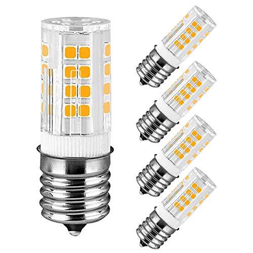 E17 LED Bulb Microwave Oven Appliance Light Bulb Intermediate Base Bulb 4W (40W Halogen Bulb Equivalent) Warm White 3000K Non-Dimmable 110 v-130v (Pack of 4)