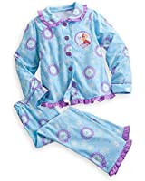 DISNEY STORE FROZEN ANNA ELSA HOLIDAY PAJAMAS BLUE WINTER WARM SLEEPWEAR
