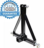 """3 Point 2"""" Receiver Trailer Hitch Category 1 Tractor Tow Hitch Drawbar Adapter"""