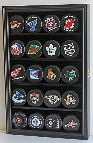 hockey puck wall display case - 3