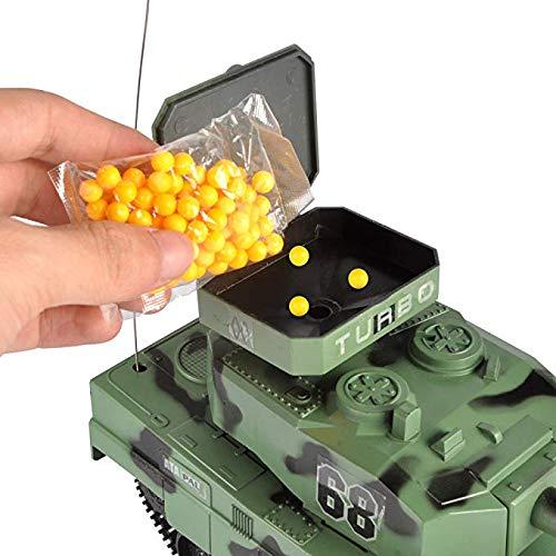 Que Dispara Balas De Airsoft Tanque De Batalla Militar De Control Remoto De Radio para Juguetes De Ni/ño RC BB Panzer Tank